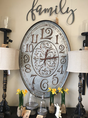 Tin Oval Clock