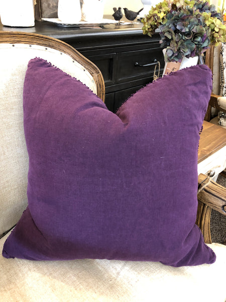 Pompom Purple Down Filled Pillow