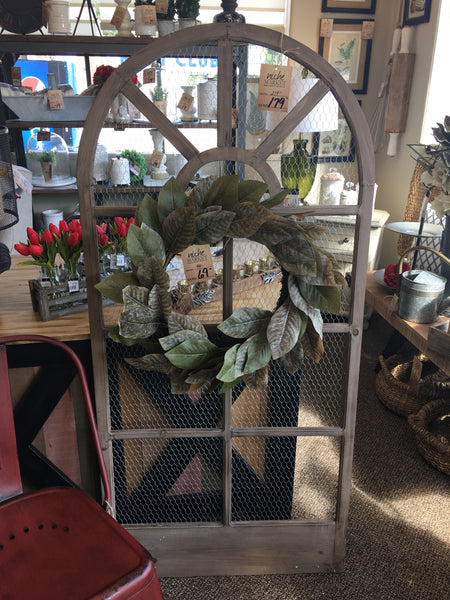 Antique White Wood Window Frame