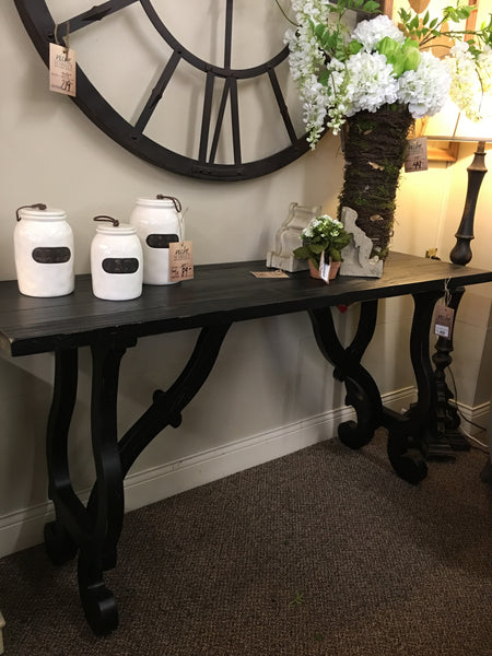 Orchard Rub Black Console Table
