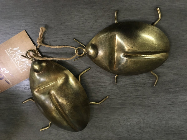 Antique Brass Beetles Set/2