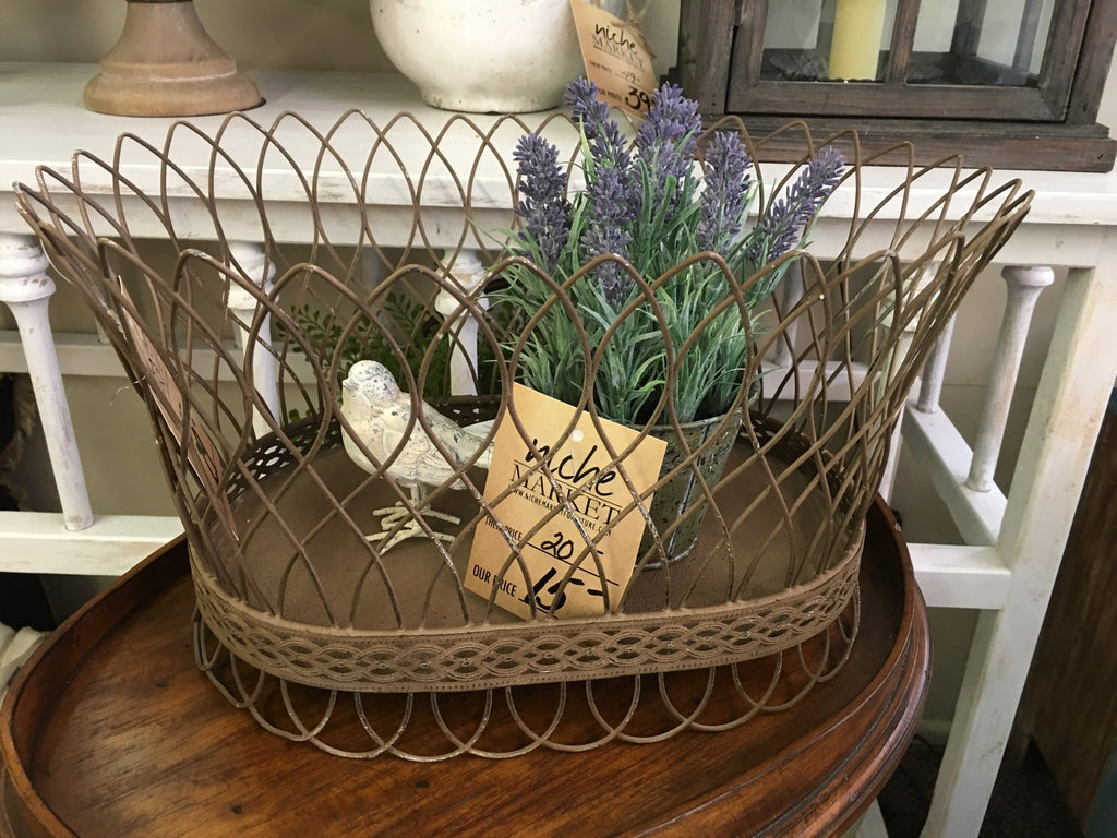 Nested French Wire Large Basket