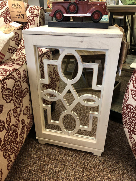 Clover Side Table w/Mirror