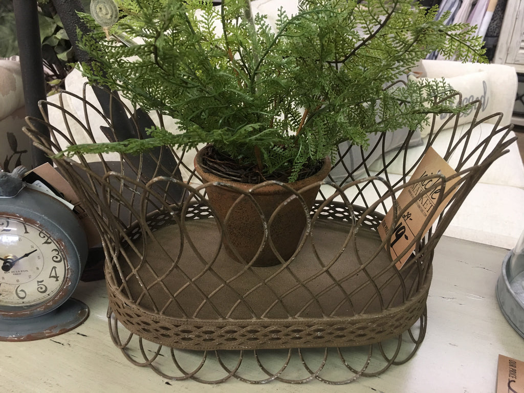 Nested French Wire Small Basket