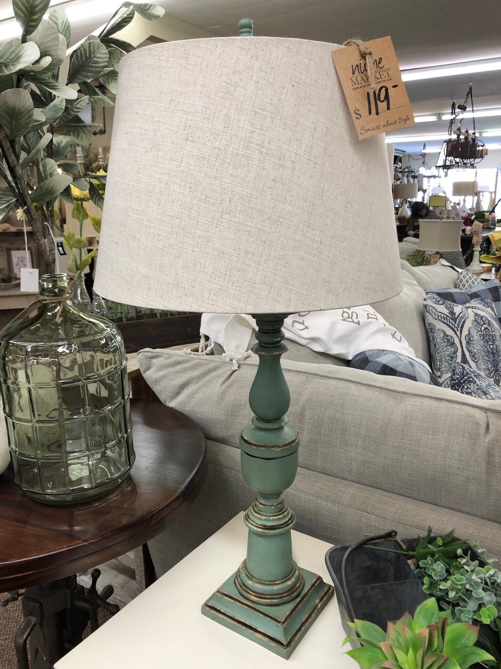 Antique Veri Wash Table Lamp