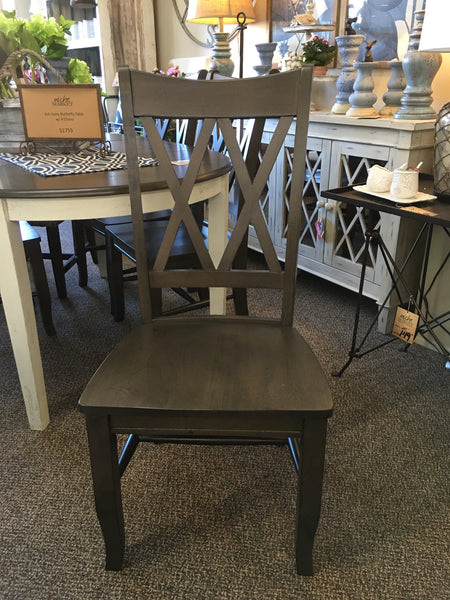 Ash Double X-Back Dining Chair