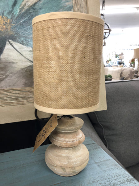 Bleached Mango Wood Table Lamp