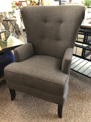 Riley Charcoal Wing Chair