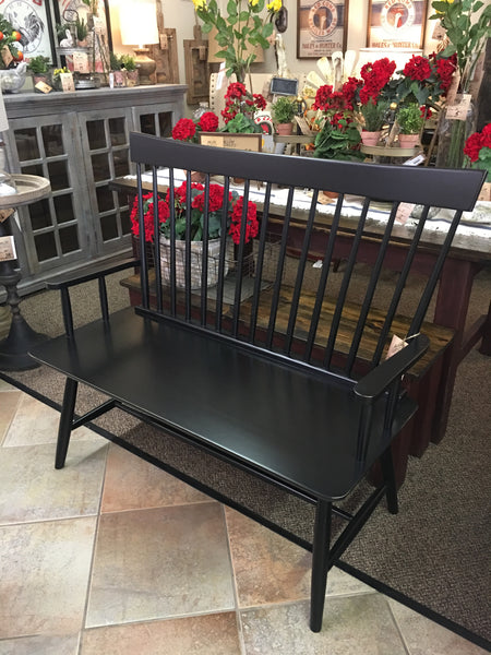Black Onyx Tall Windsor Arm Bench