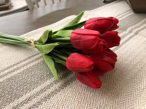Red Real Touch Mini Tulip Bouquet