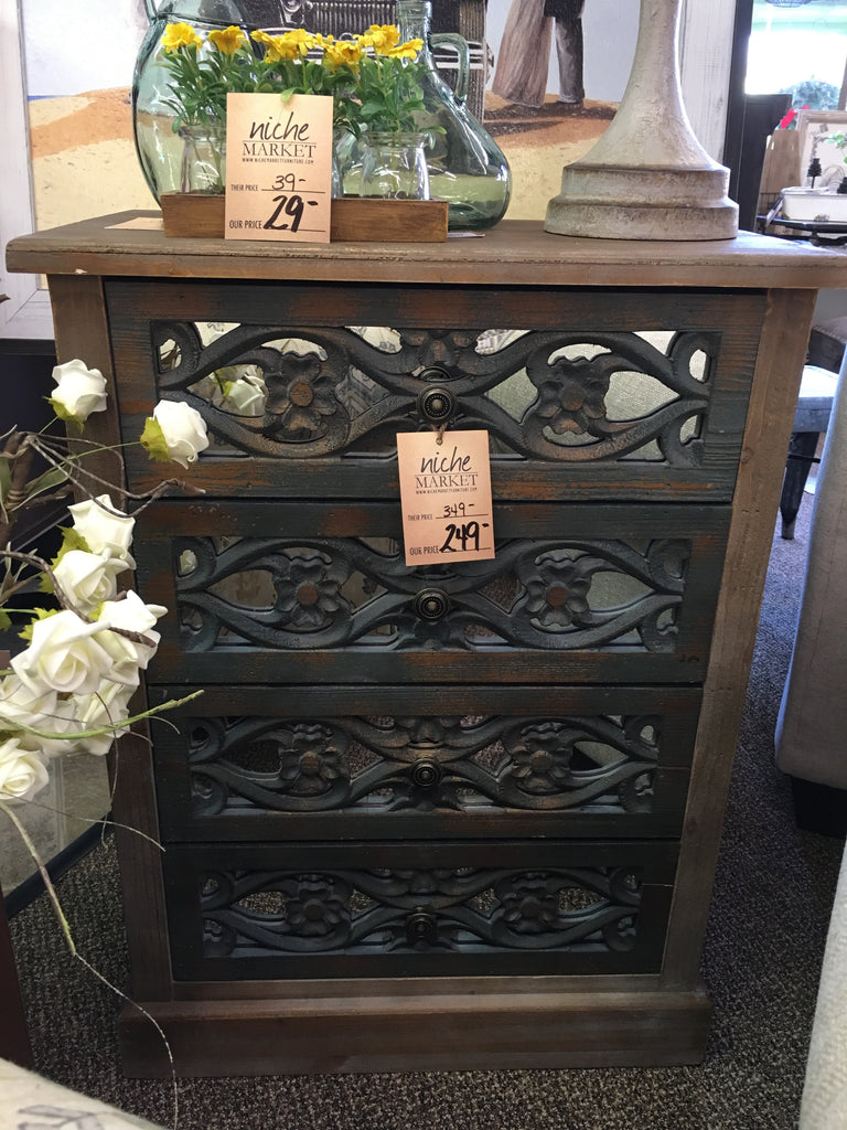 Phillipsburg Floral Carved Cabinet