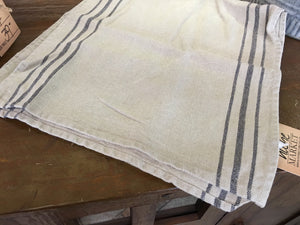 Natural Striped Linen Runner