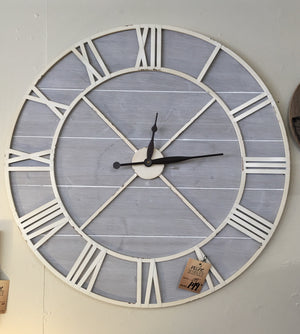 Antique Ivory Driftwood Clock