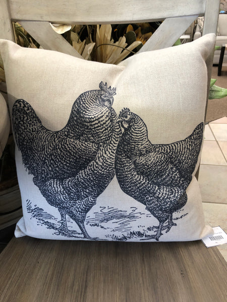 Rooster Down Pillow