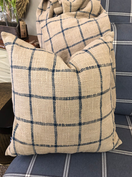 Checkered Natural Down Filled Pillow
