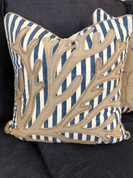 Striped Sea Fan Pillow