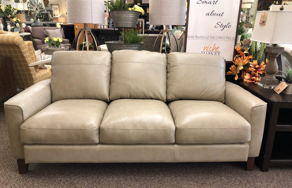 Chino Sand Leather Sofa