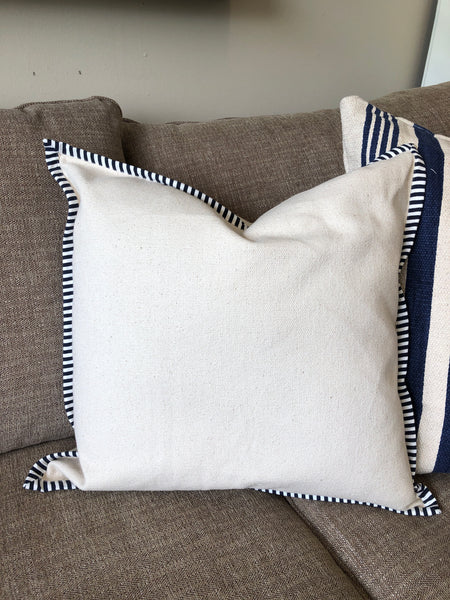 Striped Flanged Down Pillow