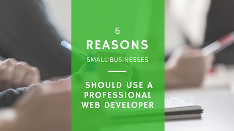 6 Reasons Small Businesses Should Use a Professional Web Developer [638 Words]
