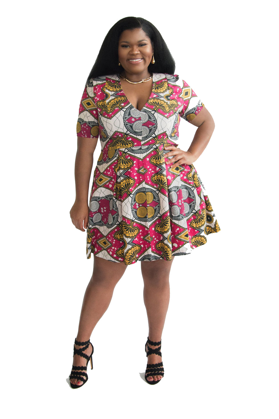 Ndona Short Sleeve Dress
