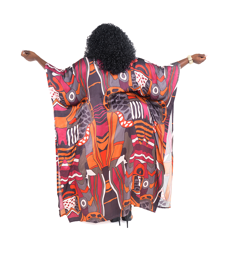 Luxury Safari Print Kaftan
