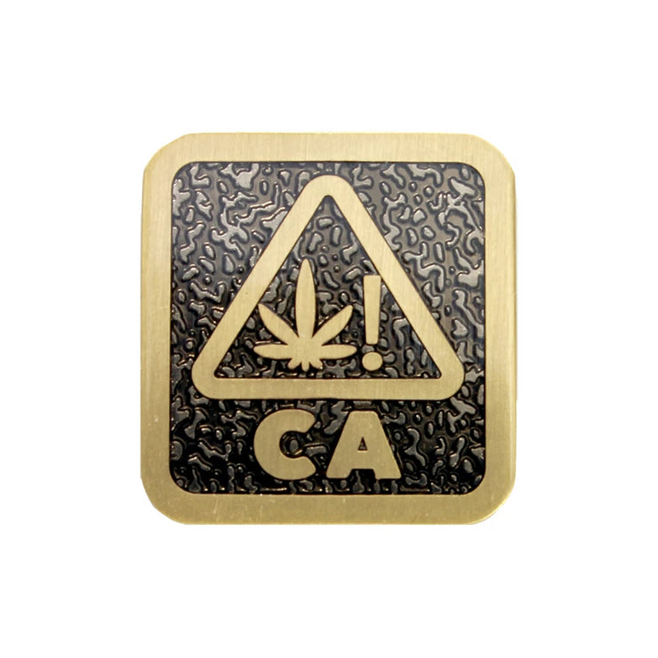The West Coast Weed Pin in Black