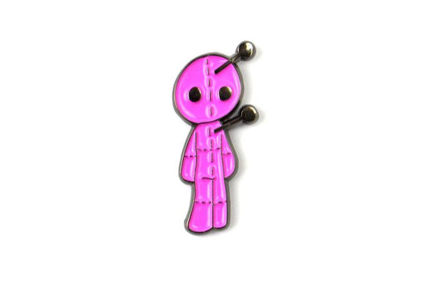 The Pink Voodoo Doll Pin