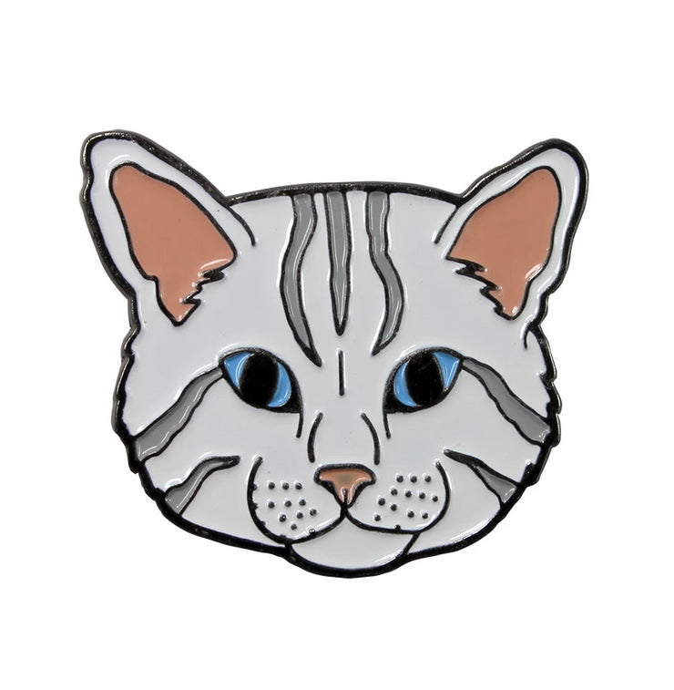 The White Cat Pin Pet