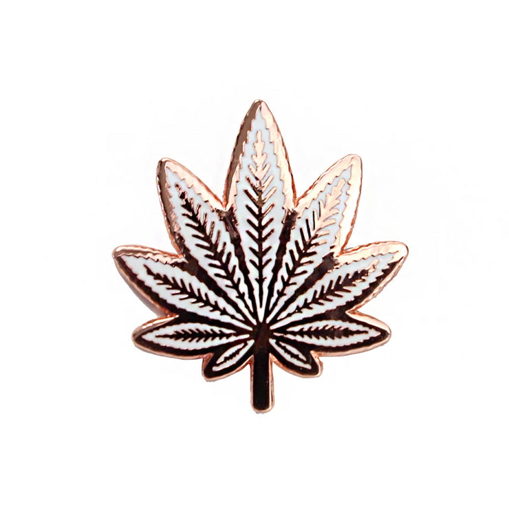 The Pot Leaf Pin Copper