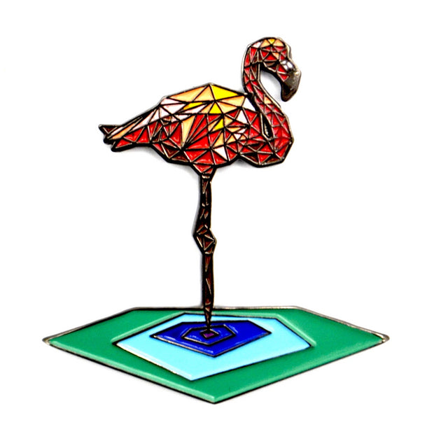 The Geometric Flamingo Pin