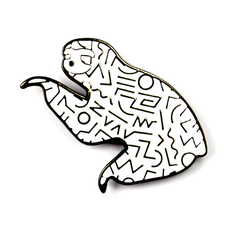 The White 90s Sloth Pin