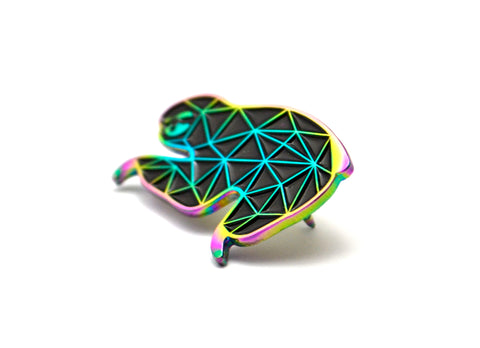 The Rainbow Fractal Sloth Pin