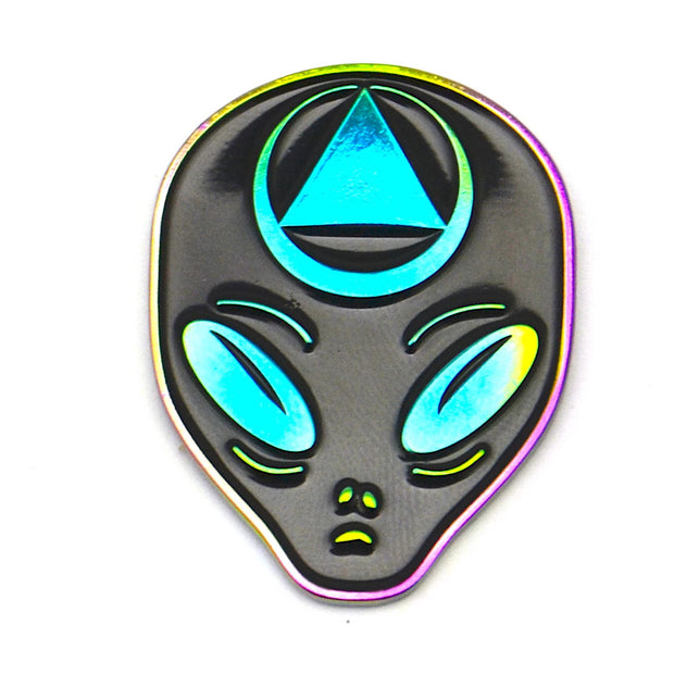 The Rainbow Alien Pin