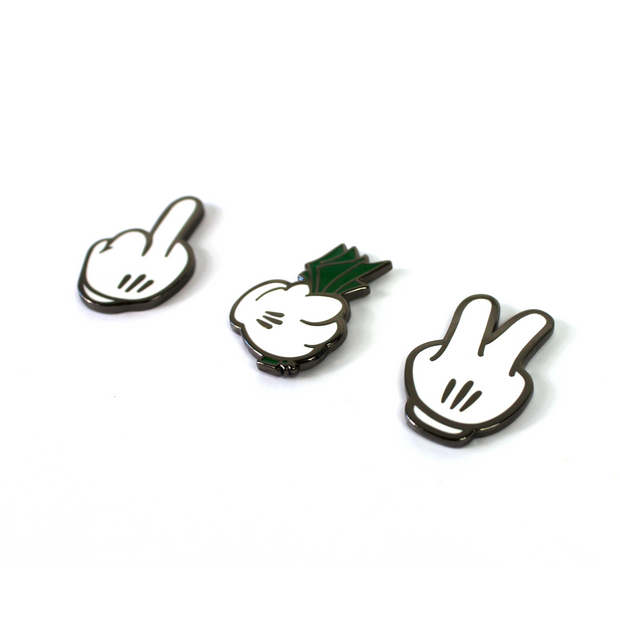 The F%#$ You. Pay Me. Peace. Pin Set