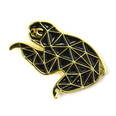 The Gold Fractal Sloth Pin