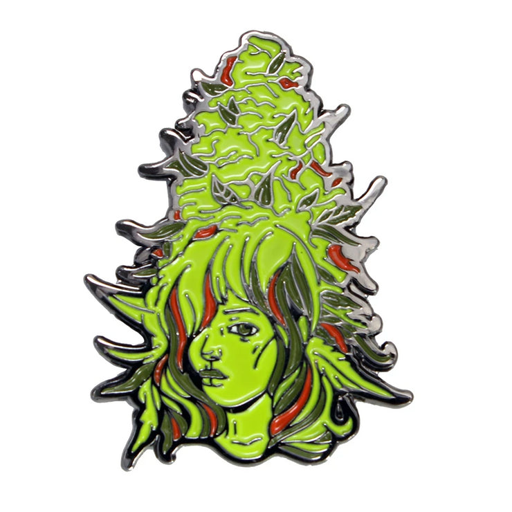 The Bud Babe Pin in Green
