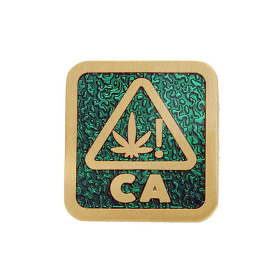 The West Coast Weed Pin in Green