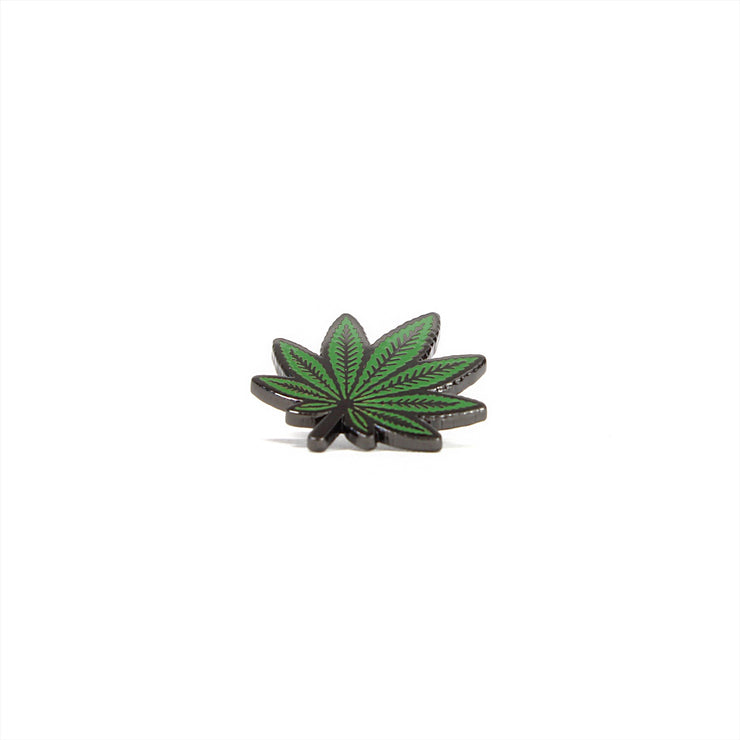 The Pot Leaf Pin Green