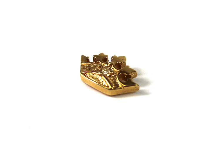 The '3D Mini Crown' Vintage Pin
