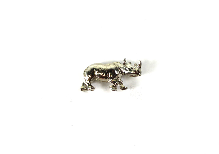 The '3D Rhino' Vintage Pin