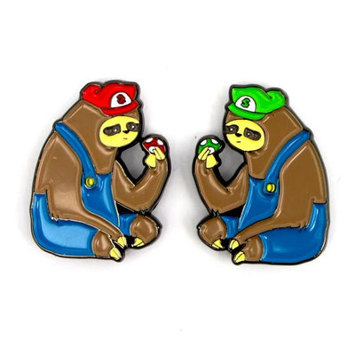 The Super Sloth Bros Pin Set