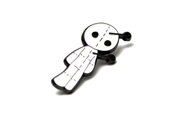 The White Voodoo Doll Pin