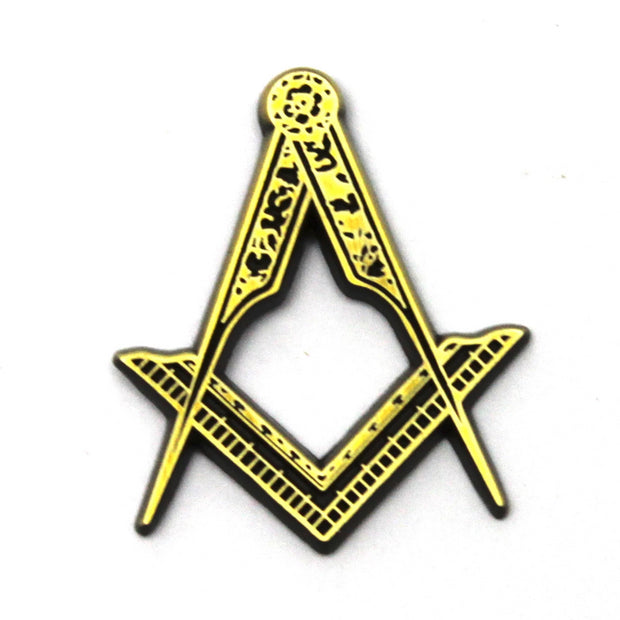 The Mason's Compass Pin