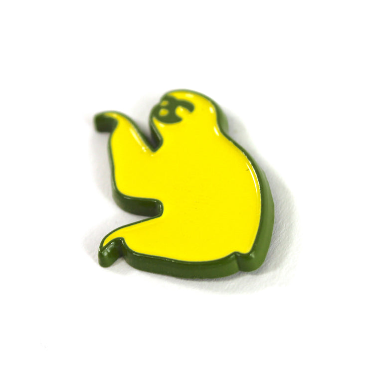 The Yellow on Green Sloth Pin