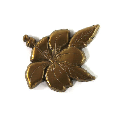 The Golden Hibiscus Pin