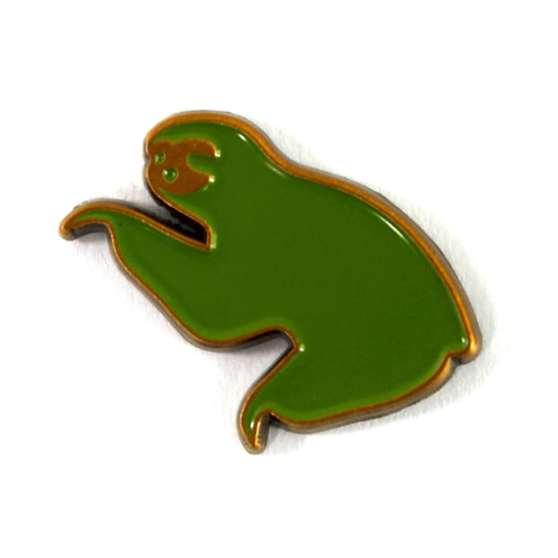 The Green on Gold Sloth Pin