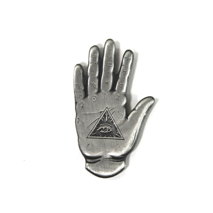 The Fortune Teller's Hand Pin in Silver