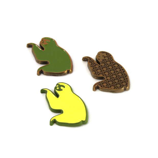 The Gold Coast Sloth Pin Set