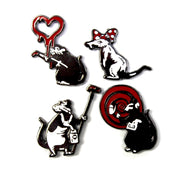 The Rat Pack Pin Set
