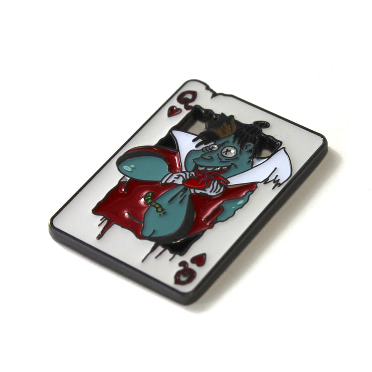 The Queen of Hearts Pin